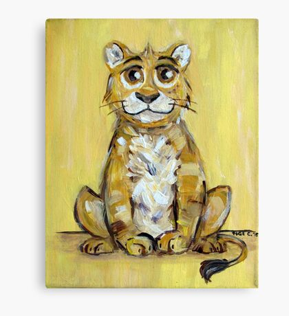 Little Lion Cub Canvas Print