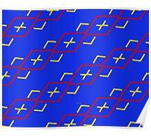 sd Abstract Pattern 110 C primary colors Poster