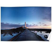 St. Mary's Lighthouse at Dawn Poster