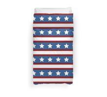 Stars & Stripes horizontal red white blue Duvet Cover