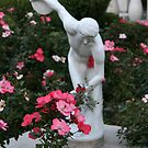Throwing the Discus Among The Roses by coffeebean