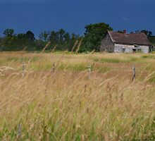 Old Farm House On a Stormy Day by April Koehler