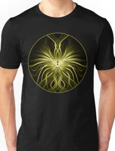 Golden Flame Abstract Unisex T-Shirt
