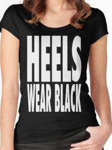 Heels Wear Black Women's Fitted Scoop T-Shirt