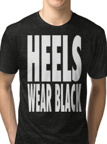 Heels Wear Black Tri-blend T-Shirt