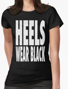 Heels Wear Black Womens Fitted T-Shirt
