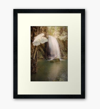 Floating and Flowing Framed Print