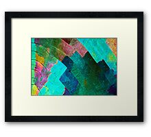 Sulfur crystals under the microscope Framed Print