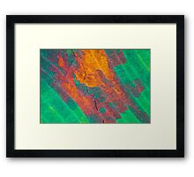 Sulfur crystals under a microscope Framed Print