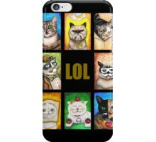 LOL Cats with Moustaches iPhone Case/Skin