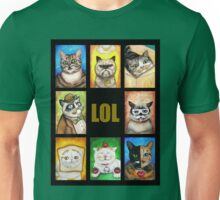LOL Cats with Moustaches Unisex T-Shirt