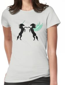 Unicorn vs. Pegasus Womens Fitted T-Shirt
