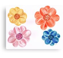 Bright coloured Flowers Canvas Print