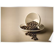 Cup and Coffee Beans Poster