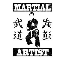Martial Artist Photographic Print