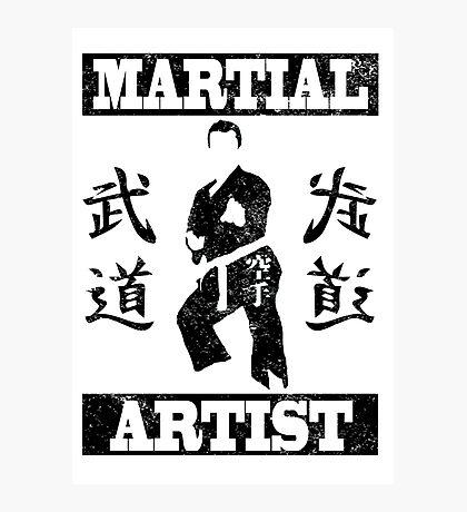 Martial Artist Photographic Print