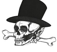 Skull and Tophat by sloefox