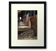 Shearing shed at Shear Outback Framed Print