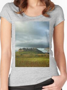 a stunning Malawi landscape Women's Fitted Scoop T-Shirt