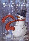 Snowy Christmas Card by Ine Spee