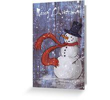 Snowy Christmas Card Greeting Card