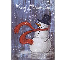 Snowy Christmas Card Photographic Print