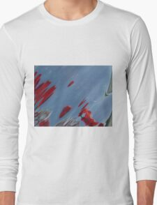Tulips, Dorothy, Abstract Photography, Raw Image, Refraction through glass Long Sleeve T-Shirt