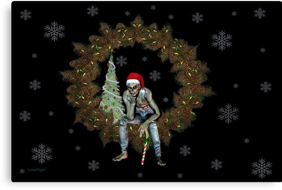 The season of Cheer .. A Zombie christmas  by LoneAngel