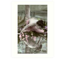 Vintage *Reflecting Beauty* Art Print
