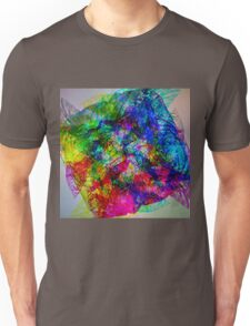 Cellophane color explosion against the light Unisex T-Shirt