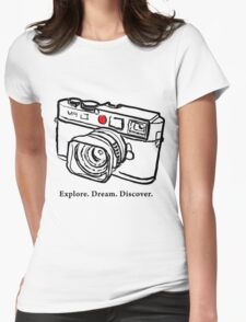 Leica M9 red dot rangefinder camera Womens Fitted T-Shirt
