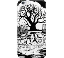Silhouette of a tree   Mirror image  iPhone Case/Skin