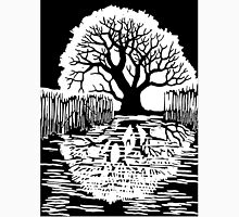 Silhouette of a tree   Mirror image  Unisex T-Shirt