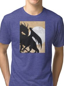 Tolkien - Smaug - Dragon against the Moon Tri-blend T-Shirt