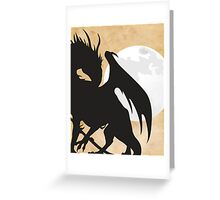 Tolkien - Smaug - Dragon against the Moon Greeting Card