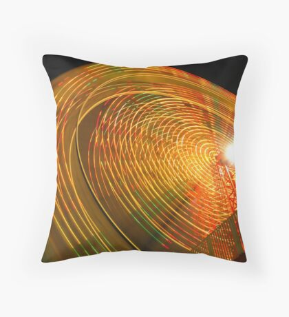 The Magic of the Carnival: Wheel of Fire Throw Pillow