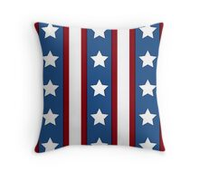 Stars & Stripes vertical red white blue Throw Pillow