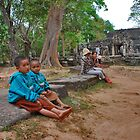 Children of Banteay Kdei by Adri  Padmos