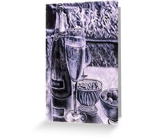 Champagne, Olives, and Nuts Greeting Card
