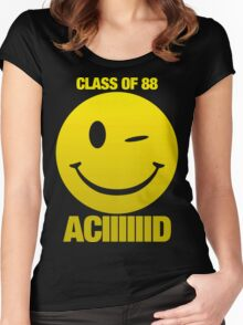Acid house class of 88 Women's Fitted Scoop T-Shirt