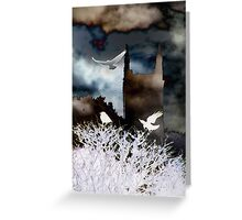 Medieval 2.   Castles and Carrion Fowl Greeting Card
