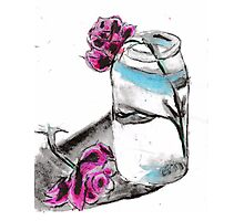 Flowers & Mason Jar Photographic Print