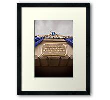 Diamond Celebration - Leave Today Framed Print