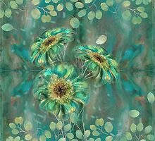 Mystic Teal Floral v1 by veggiemuse