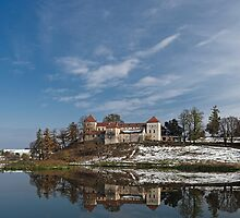 Landscape with Svirzh Castle by Oleksii Rybakov