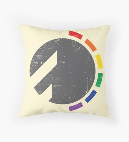 Darkside Abstraction Throw Pillow