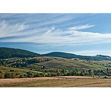 Carpathian foothills Photographic Print