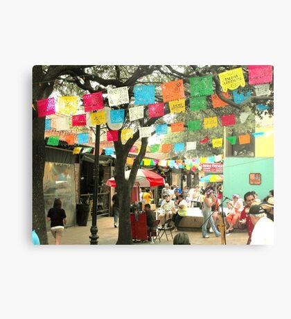 Cinco de Mayo Celebration at Market Square (El Mercado) in San Antonio Metal Print