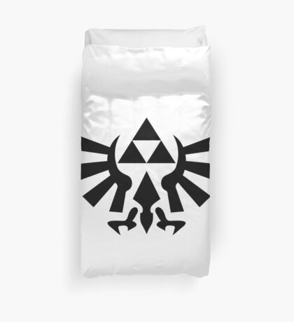 Triforce (Black Duvet Cover