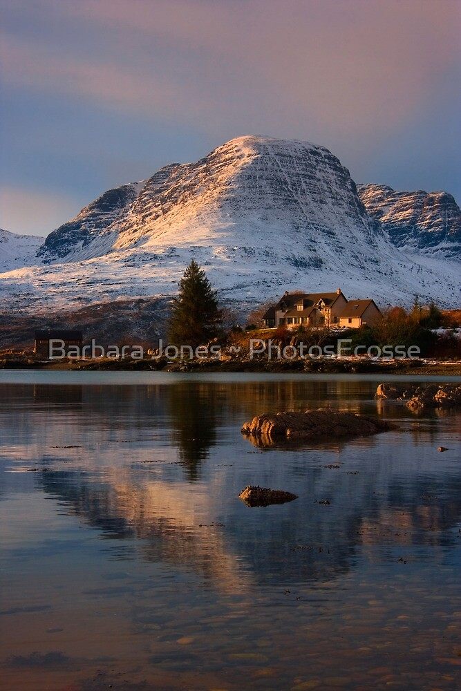 The Applecross Hills reflected in Loch Kishorn, North West Scotland. by PhotosEcosse